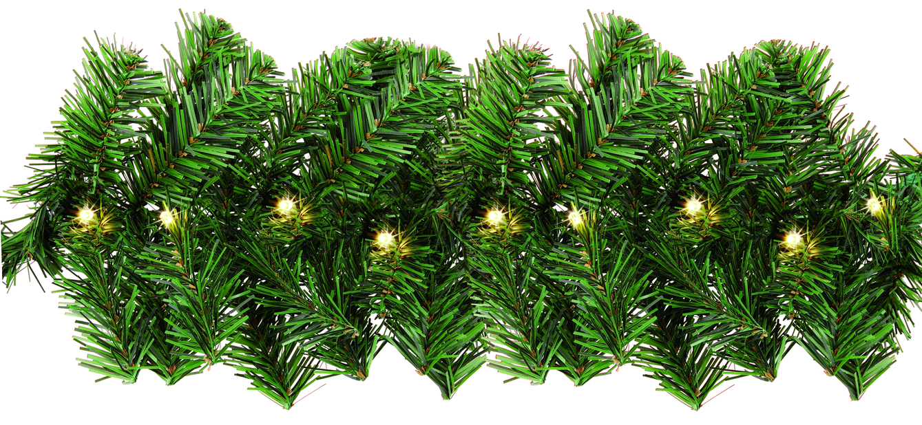 Ljusslinga Ola Girlang 100 LED, Längd 40 cm, Svart