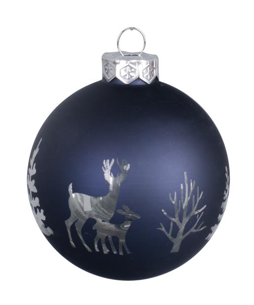 Julgranspynt Midnight Forest, Ø8 cm, Marinblå