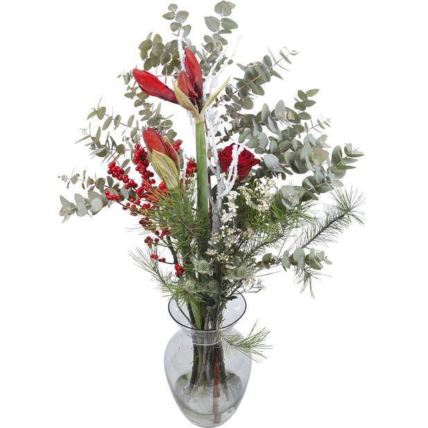 Bukett jul, Höjd 60 cm, Flerfärgad