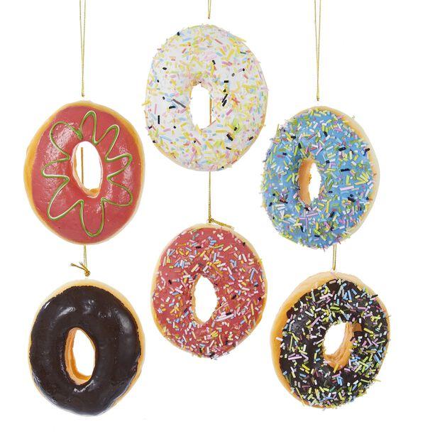 Julgranspynt Donuts, Höjd 10 cm, Flerfärgad