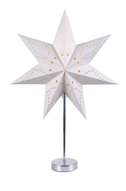 Julstjärna på fot, Höjd 45 cm, Vit