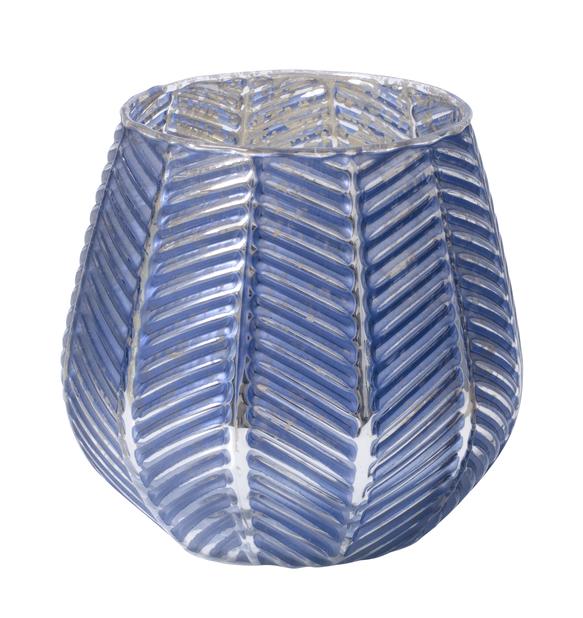 Värmeljushållare Bianca, Höjd 10 cm, Blå