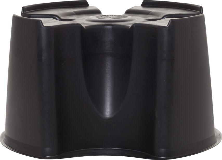Pall till vattentunna 200L., Höjd 31.5 cm, Svart