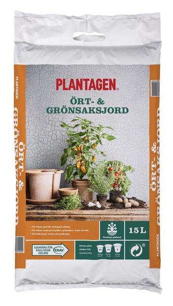 Ört- och grönsaksjord KRAV, 15 L, Flera färger