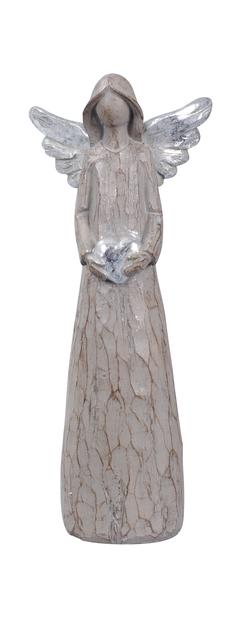 Dekoration Ängel, Höjd 26 cm, Brun