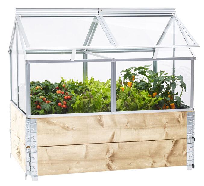 Gaia växthus till pallkrage