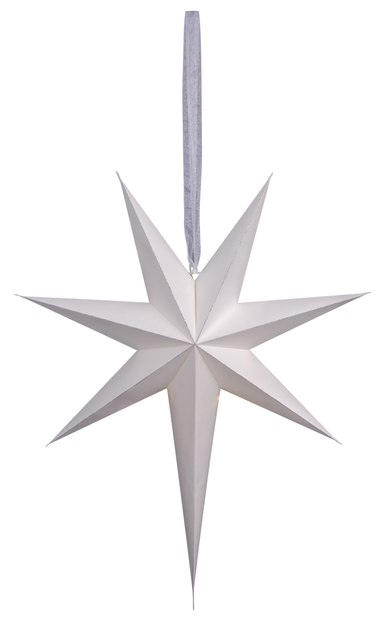 Julstjärna Minimalist, Höjd 60 cm, Vit