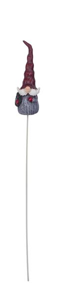 Dekorationspinne tomte, Höjd 25 cm, Röd