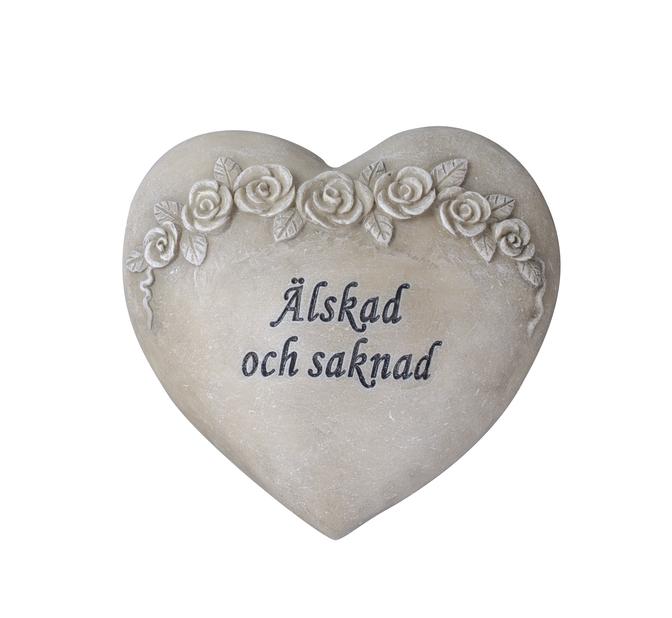 Hjärta 'Älskad och saknad'