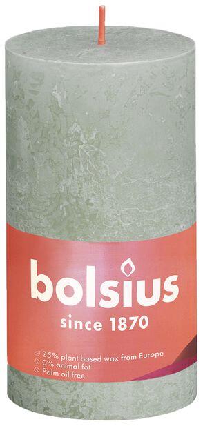 Blockljus rustic, Höjd 13 cm, Grön