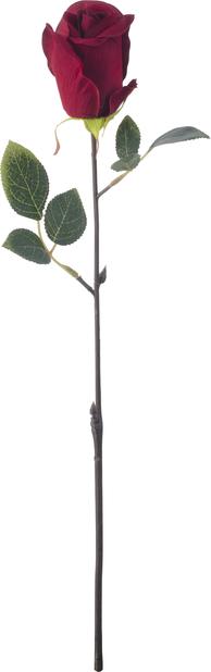 Ros konstgjord, Höjd 45 cm, Röd