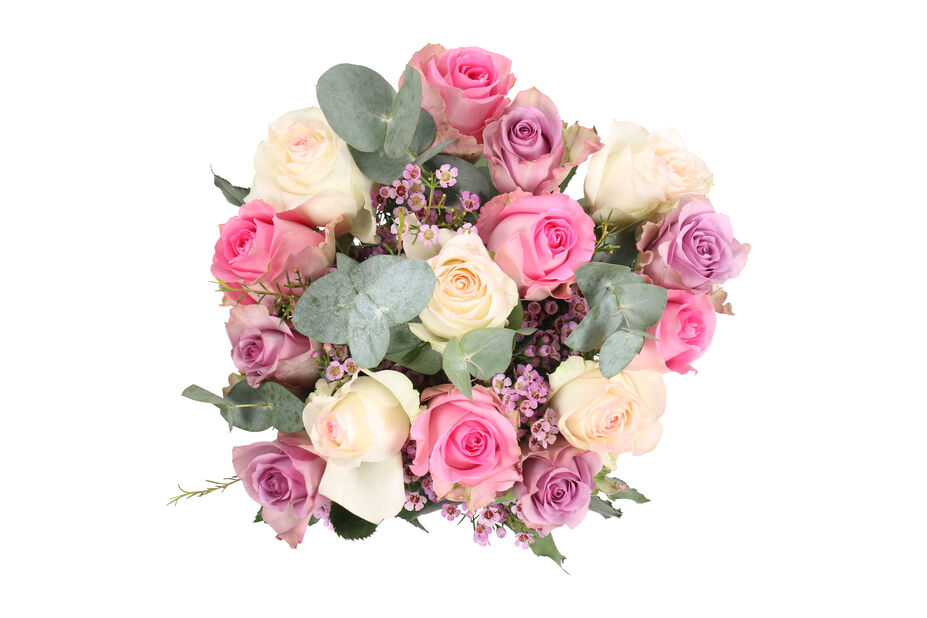 Bukett Sweet roses, Höjd 50 cm, Flerfärgad