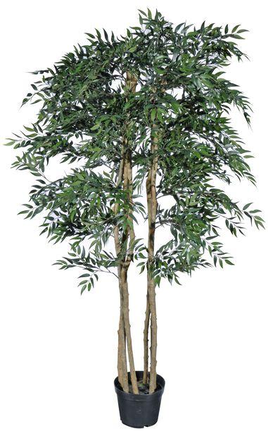 Fikusträd konstgjord, Höjd 215 cm, Grön