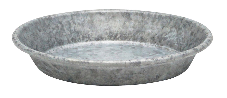 Fat zink, Ø12 cm, Grå