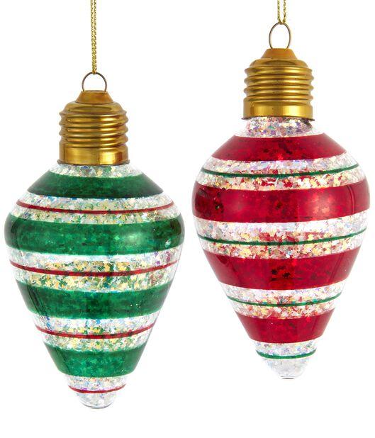 Julgranspynt Kulor i glas, Höjd 13 cm, Flerfärgad