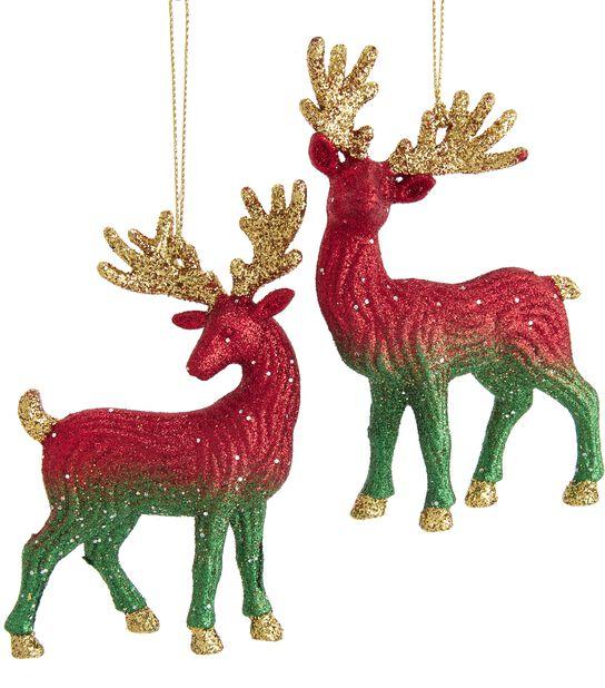 Julgranspynt Renar, Höjd 12 cm, Flerfärgad