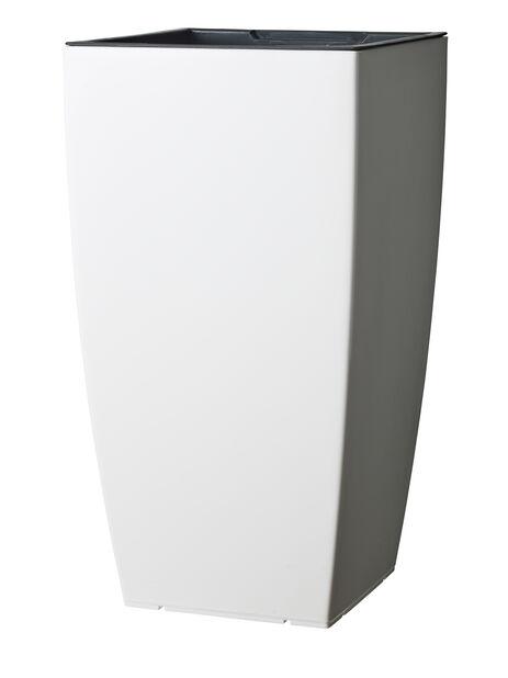 Kruka Leva självbevattnande, Ø31 cm, Vit