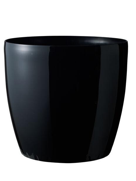 Självbevattnande kruka Leva på hjul, Ø43 cm, Svart
