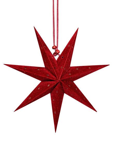 Julpynt miniadventsstjärna 3-pack, Röd