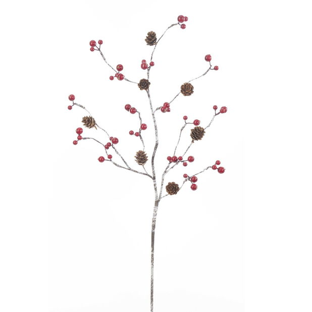 Juldekoration kvist med bär, Höjd 66 cm, Flerfärgad