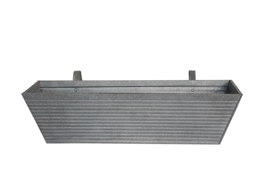 Balkonglåda Crewe m hållare 60 cm grå