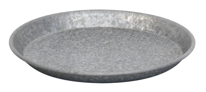 Fat zink, Ø22 cm, Grå