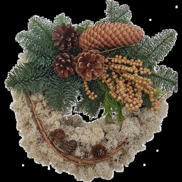 Allhelgonakrans , Höjd 35 cm, Grön