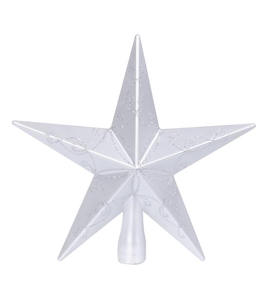 Toppstjärna Gina, Höjd 20 cm, Silver