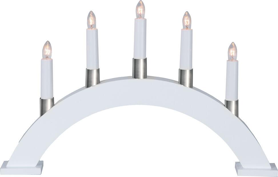 Julljusstake Wilma 5 LED-lampor, Svart