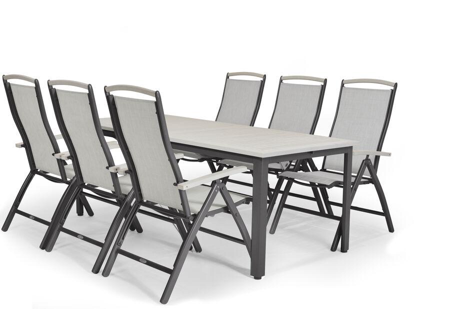Matgrupp Lyon XL, 6 sittplatser, Grå