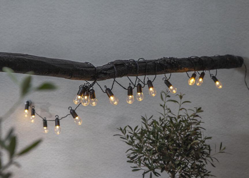 Ljusslinga ute, Längd 450 cm, Transparent