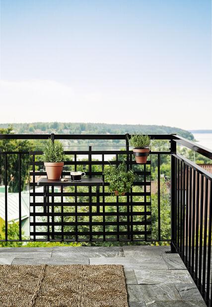 Tilia balkonghållare set svart