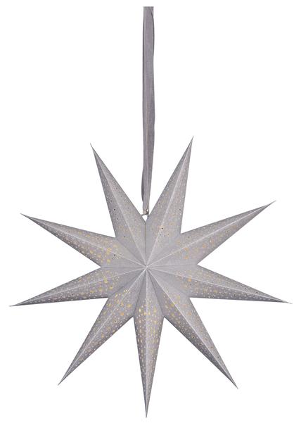 Julstjärna Gloria med LED-belysning, Längd 60 cm, Silver