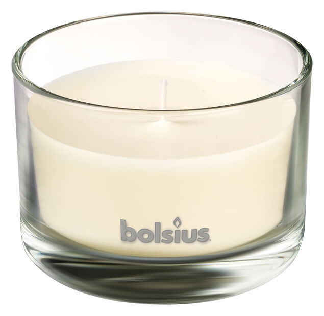 Doftljus Vanilj, Höjd 6 cm, Vit