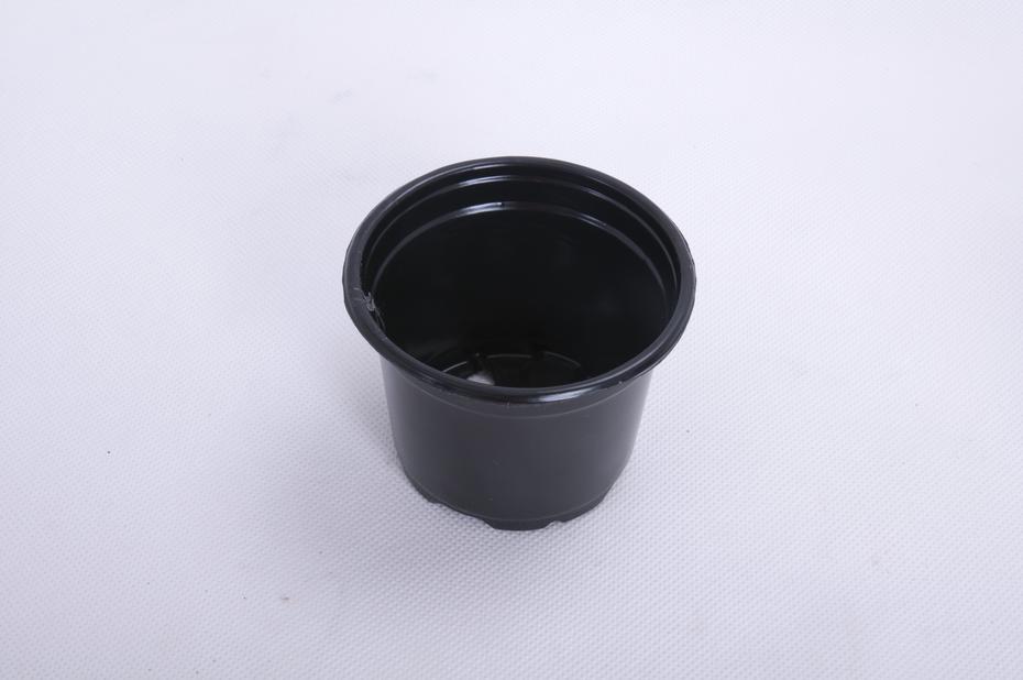 Plastkruka rund, Ø9.5 cm, Svart