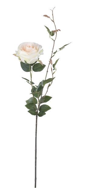 Ros med kvist konstgjord, Höjd 56 cm, Röd