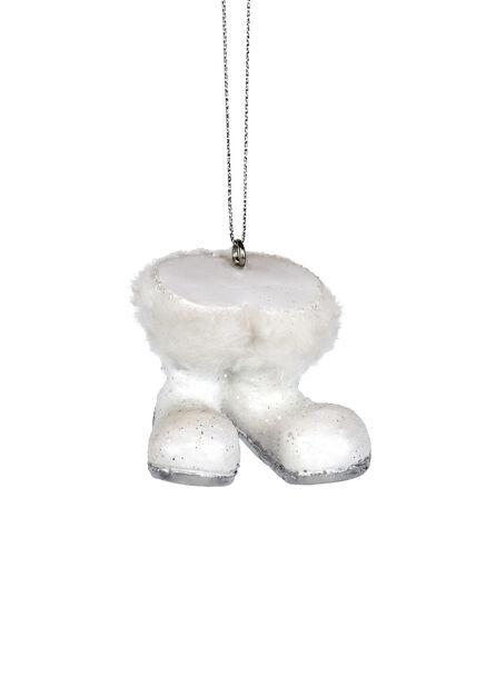Julgranspynt Tomtestövlar, Höjd 5 cm, Vit