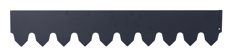 Gräskant 4 m, svart