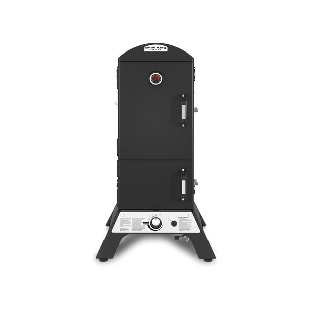 Vertikal Gas & kolgrill Broil King Smoker, Svart