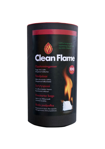 Tändpåse Clean Flame 100-p, Vit