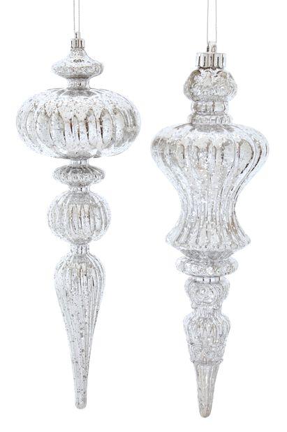 Julgranspynt Ornament, Höjd 30 cm, Vit