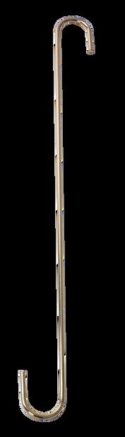S-krok, Längd 40 cm, Mässing