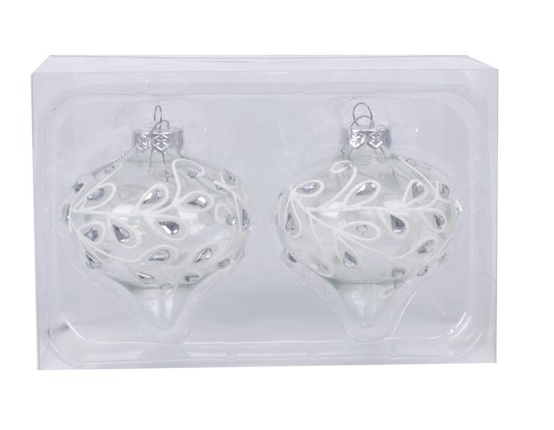 Julgranspynt Crystal 8 cm, glas