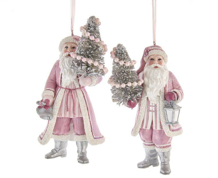 Julgranspynt jultomte, Höjd 13 cm, Rosa