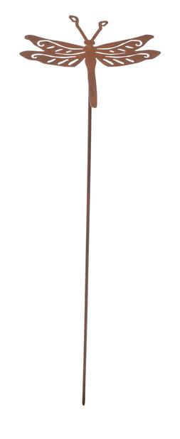 Dekorationspinne trollslända, Längd 50 cm, Rost