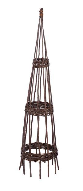 Växtstöd pil, Höjd 150 cm, Brun