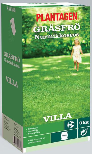 Gräsfrö Villa, 3 kg, Flera färger