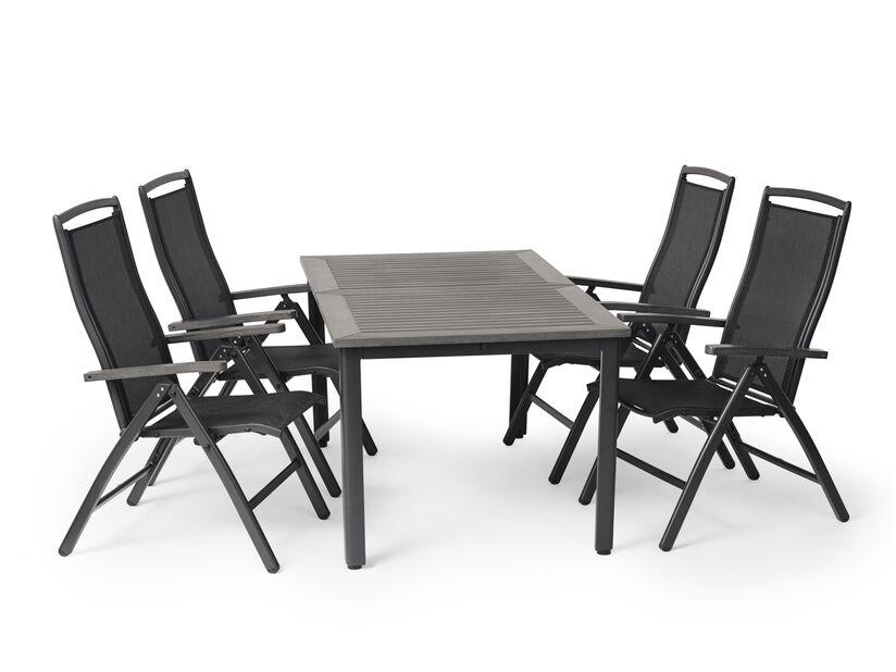Matgrupp Ammi, 4 sittplatser, Grå