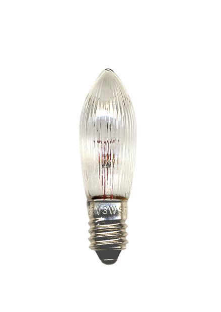 Extralampor E10 55V till 5-armad adventsljusstake, 3-pack, Transparent