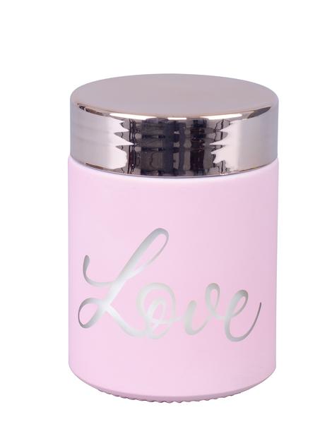 Doftljus Love, Höjd 8 cm, Rosa